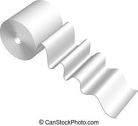 toilet paper - Vector illustration of toilet paper