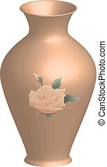 vase - Vector illustration of decorated vase