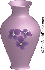 decorated vase - Vector illustration of decorated vase