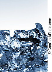ice cubes very close up
