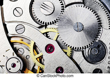 watch gears close up - watch gears very close up