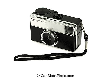 Old camera with strap