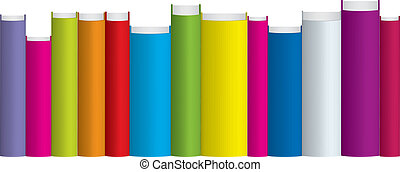 colorful books - Vector illustration of colorful books