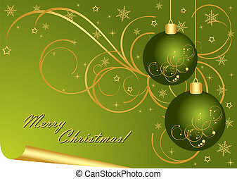 Merry Christmas - Merry Christmas green background