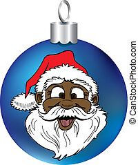 Santa Face Ornament - Vector Illustration of Santa Face...