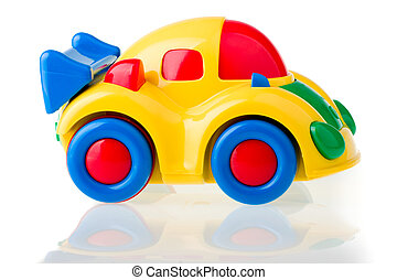 Toy Car. - Toy car isolated over white.