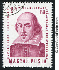 Shakespeare - HUNGARY - CIRCA 1964: stamp printed by...
