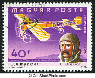 aeroplane - HUNGARY - CIRCA 1978: stamp printed by Hungary,...