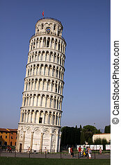Leaning Tower of Pisa - The leaning tower of Pisa in the...