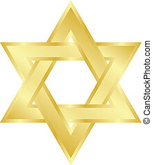 star of David - Vector illustration of star of David (Magen...