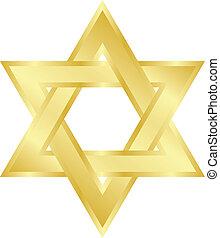 star of David - Vector illustration of star of David Magen...