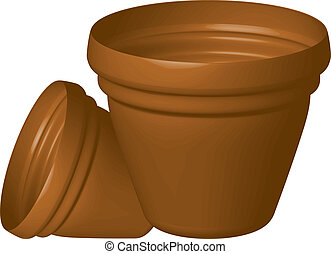 flowerpots - Vector illustration of flowerpots