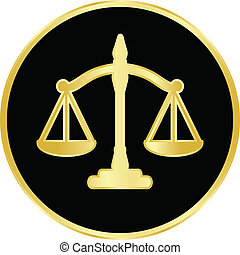 justice scales - Vector illustration of justice scales