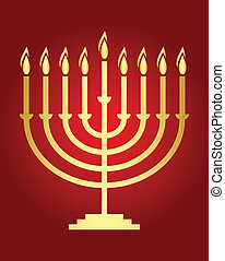 Vector Hanukkah wish card Vector - Vector Hanukkah wish card...