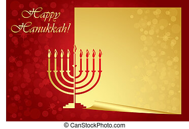 Happy Hanukkah wish card - Vector Happy Hanukkah wish card...