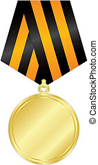gold medal - Vector illustration of gold medal