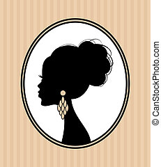 Beauty Silhouette - Illustration of a beautiful female...