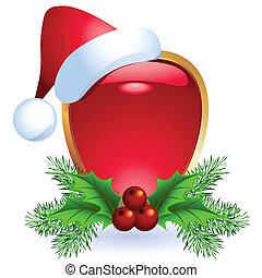 Christmas web button with santa cap