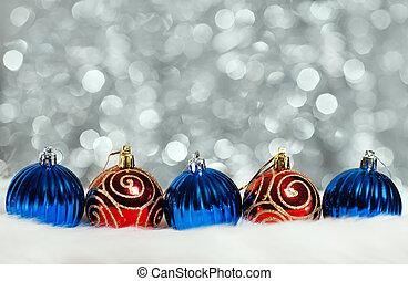 抽象的, ボール, クリスマス, 背景