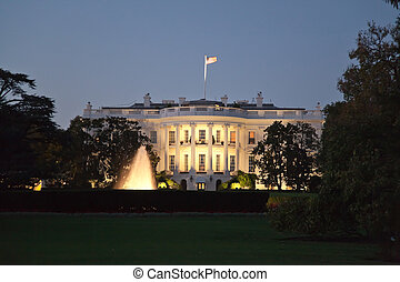 The White House at the night - The White House in Washington...