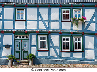 German Half-timbered house - Door and windows traditional...