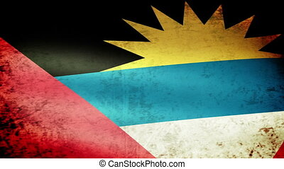 Antigua and Barbuda Flag Waving, grunge