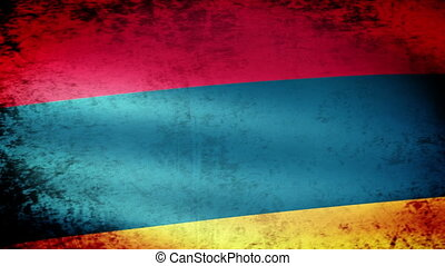 Armenia Flag Waving, grunge