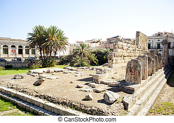 Greek theater, Neapolis of Syracuse in Sicily - Italy