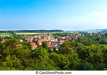 romantic village of Schillingsfuerst in Bavaria