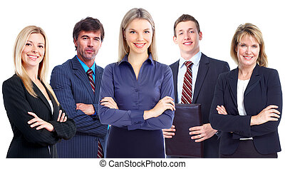 Business people group Business team Isolated over white...