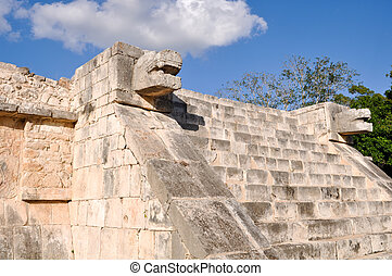 Temple of the Jaguars and Eagles at Chichen Itza Mexico Mayan Ruins