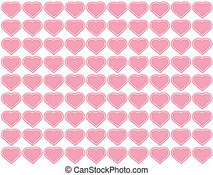 Seamless Pattern, Hearts Background