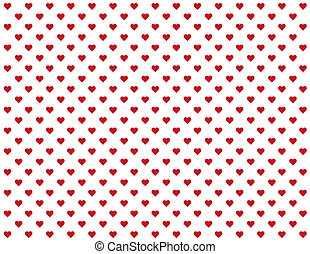 Seamless Pattern, Tiny Red Hearts - Seamless abstract...