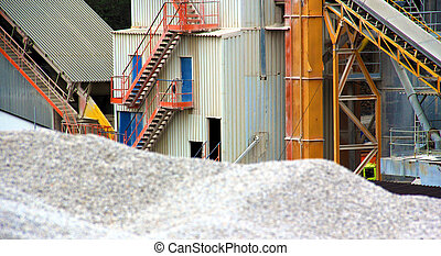 Working - Gravel pit and equipment for sorting gravel