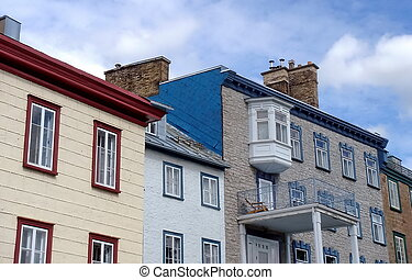 Houses in old Quebec