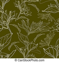 "Vector seamless floral vintage pattern (from my big ""Floral..."