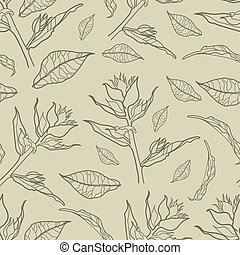 """Vector seamless floral vintage pattern (from my big """"Floral..."""