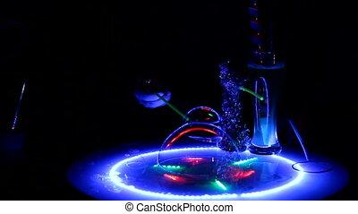 Beautiful soap bubbles show - Soap bubbles show in a...