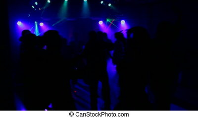 People dancing at the disco