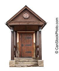 Retro wooden door