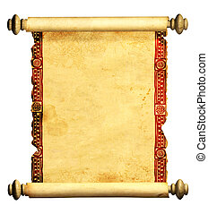 3d scroll of old parchment - Scroll of old parchment Object...