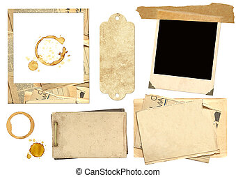 Collection elements for scrapbooking. Objects isolated over...