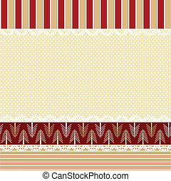 Christmas background in shabby chic style - Vector Christmas...