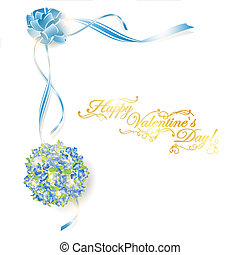 Holiday frame with bouquet - illustration of holiday frame...