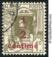Street in Kasbah - ALGERIA CIRCA 1926: stamp printed by...