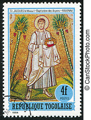 Saint James - TOGO - CIRCA 1984: stamp printed by Togo,...