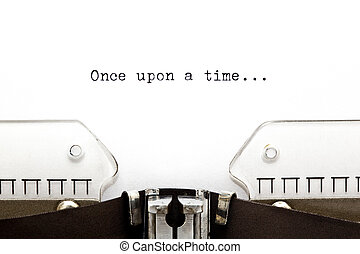 Once Upon a Time - Once upon a time written on an old...
