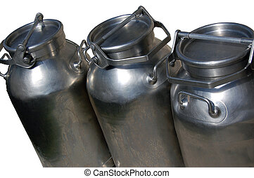 Milk cans - Steel cans for the transport of milk - Italy