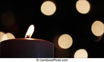 Christmas Candlelight Seamless Loop - Seamless loop. Burning...