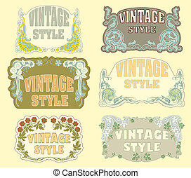 Set of vintage style - The vector image of Set of vintage...